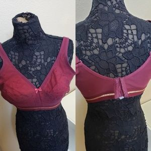 Beautiful burgundy angel gold bra from lane Bryant